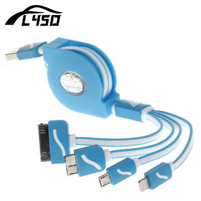 Fly5D 4in1 Multifunction USB Quick Charging Cable For iPhone 6 7 Samsung Smart