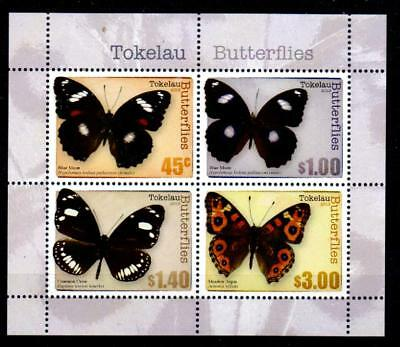 Tokelau Islands Sgms457 2013 Butterflies M/s Mnh