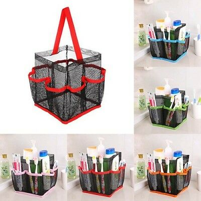 Hanging Toiletry Storage Pouch Organizer Caddy Cosmetics Shower Bag Mesh Tote