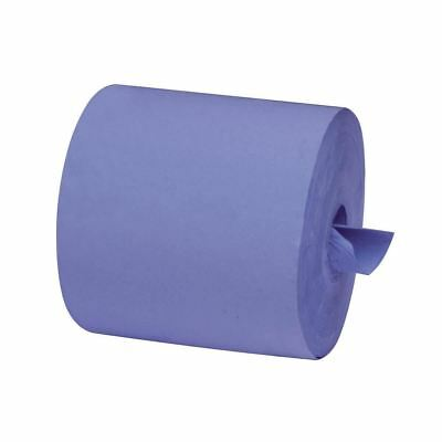 6 x 'Essentials' 2 Ply 100% Recycled Paper - Centrefeed Roll - Blue