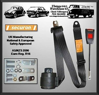 Mg Mgb Roadster Front Automatic 3 Point Seat Belt Kit