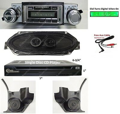 1970-72 Cutlass/442 Radio + Kick Panels + Dash Speaker + CD Player w /AC 630