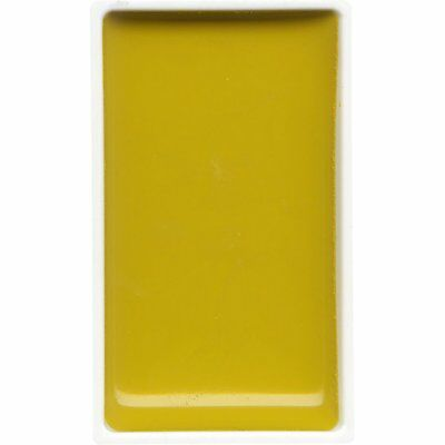ZIG Kuretake Gansai Tambi Water colour single pan - Bright Yellow - No. 42