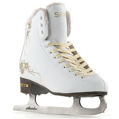 SFR Glitra Recreational Ladies Girls Gold Design Ice Skates from sizes 1 - 8