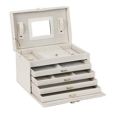 Large Lovely Jewellery Box Beautify Cosmetics Case Elegant With Mirror