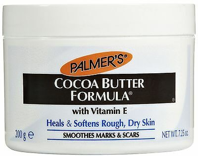 PALMER'S COCOA BUTTER 7.25oz JAR W/ VITAMIN E SMOOTHES STRETCH MARKS & SCARS