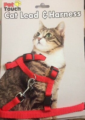 Cat Harness And Lead Set Red