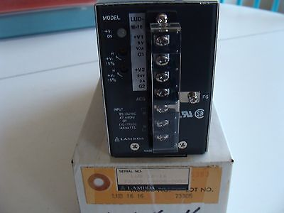 Lambda LUD-16-16 Dc POWER SUPPLY 5V ± 5% ADJ., 24V ±5% ADJ.