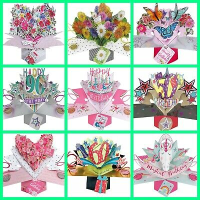 Mothers Day 3D Pop Up Card 60th Birthday Awesome Greeting Keepsake Gift Mum