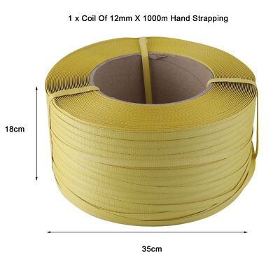 Cheap 1500M 12mm Heavy Duty Pallet Strapping Banding Coil Reel 12mm X 1000MM UK