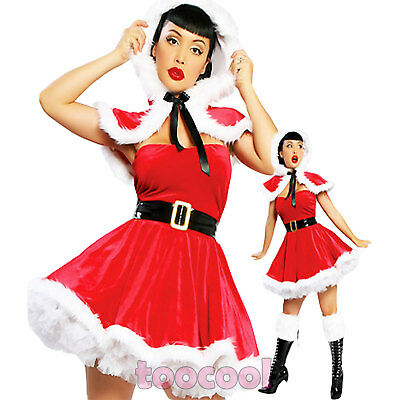 Costume carnevale donna BABBO Babba NATALE travestimento cosplay nuovo DL-449