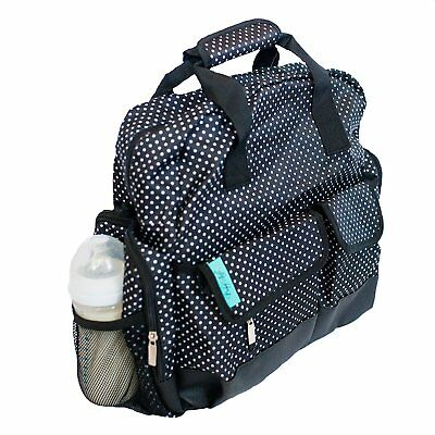 Baby - Steps, Black & White Polka Dot Diaper Bag / Backpack. Comes with Free &