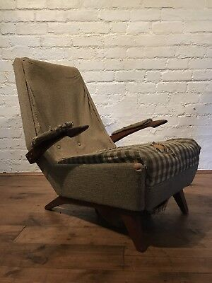 Vtg Mid century Greaves & Thomas Armchair Cocktail Chair Retro Scandinavian