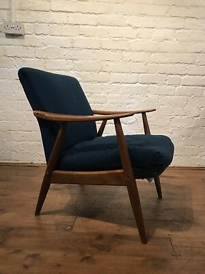 Vtg Mid century Armchair Cocktail Chair Retro Scandinavian For Restoration