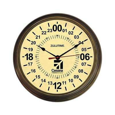 Trintec Cessna 24Hr Antique Round Wall Clock - 14""