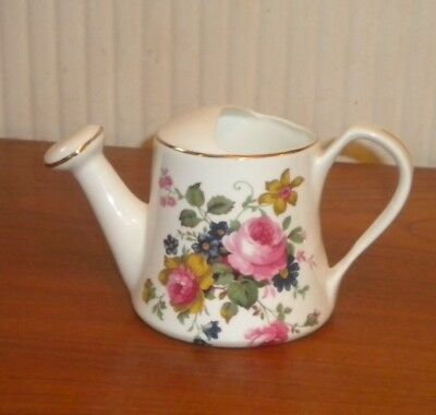 Georgeous Crown fine bone china Floral watering can excellent condition