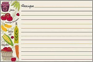 Gina B. Designs Vegies Recipe Cards 561-5135