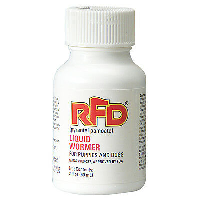 RFD Dog Puppies Roundworms Hookworms Pyrantel Pamoate Liquid Wormer  2 oz FDA