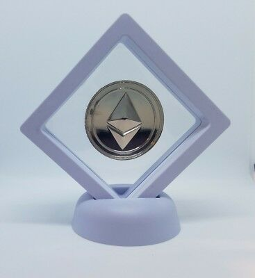 Ethereum Collectible Coin Crypto Commemorative physical silver plated Ether USA