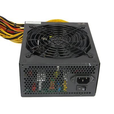 1600W Mining Power Supply For Eth Rig Ethereum Coin Miner 12 Graphics Cards