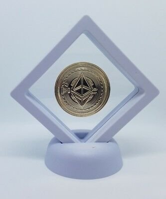 Ethereum Collectible Coin Crypto Commemorative physical gold plated Ether USA