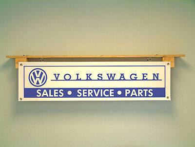 Volkswagen Workshop Banner retro sales service and parts pvc sign VW garage