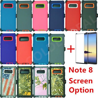 For Samsung Galaxy Note 8 Defender Case w/ Screen Protector & Clip fits Otterbox