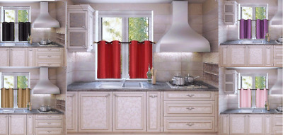 New 2 Panel Thermal Lined Blackout Grommet Window Kitchen Tier Curtain Drape D24