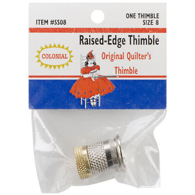 Raised Edge Thimble Size 8 SST-8