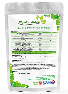 COLON CLEANSE DETOX - Désintoxication & purge intestinale 100% naturelle