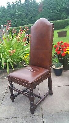 Leather Cigar Conker Brown Coach House Antique Collection Dining Chairs