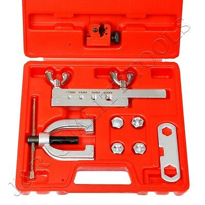 ISO/Bubble Flaring Tool Kit 9 Piece | Includes Blow-Molded Case W/ Mini Cutter
