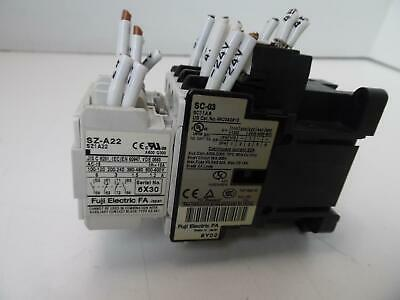 Fuji Electric Sza-22/sc-03 Relay Contact Block Sz1A22/coil Relay Sc11Aa