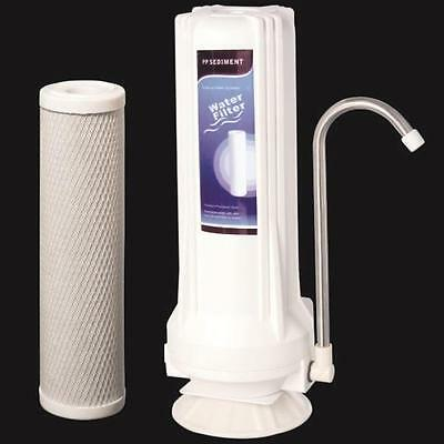 Countertop Water Filter Home Purifier with Carbon Cartridge for Chlorine Removal