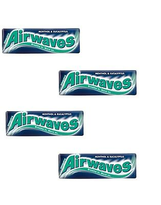 Airwaves Menthol & Eucalyptus Flavour Sugarfree Chewing Gum 10 Pellets 4x14g