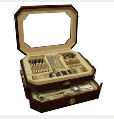 72pcs Medusa Gold Plated 18/10 Stainless Steel Cutlery Set in Wooden Case