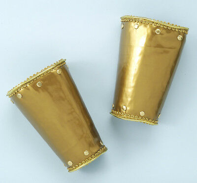 Deluxe Roman Armor Gold Adult Costume Wristbands