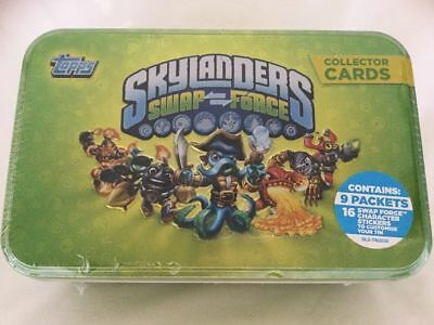 Topps Skylanders Swap Force Collector's Tin, 9 Sealed Packs of Cards