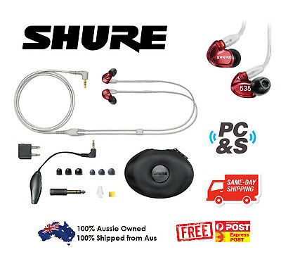 Shure In Ear Sound Isolating Pro Ear Phones Se535 Ltd (Red) Limited Edition