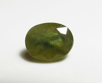 10x8mm GREEN SAPPHIRE OVAL CUT faceted LOOSE GEMSTONE - NATURAL UNHEATED
