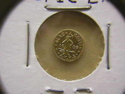 Rotated Die 1909 1/4 DWT GOLD ALASKA-YUKON-PACIFIC EXPO TOKEN: HART'S COINS WEST