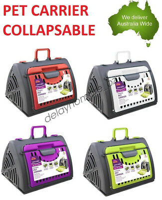Pet Carrier Collapsible Travel Carry Case Dog Cat Fold-able Rabbit Kitten Puppy