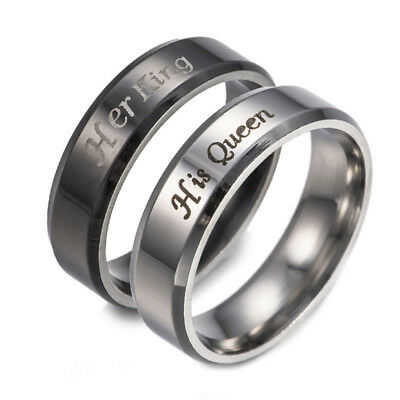 Couple Ring Matching Rings King And Queen Stainless Steel Lovers Wedding Jewelry