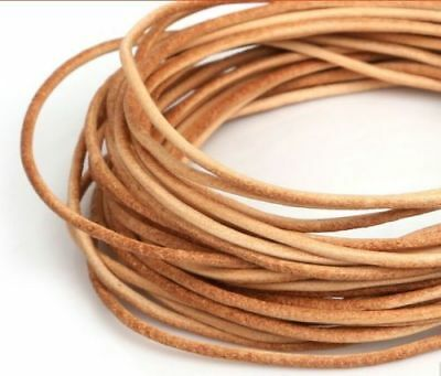 5m Real Genuine Leather Cord Rope String For DIY Necklace Bracelet Jewelry
