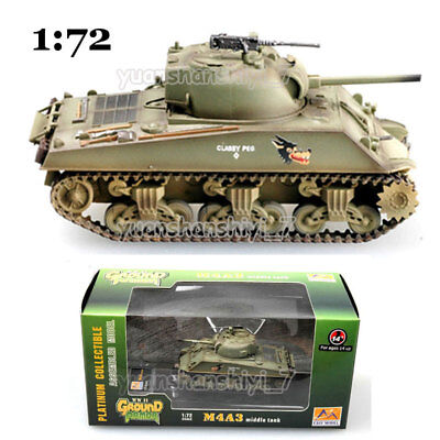 1/72 WW2 M4A3 sherman tank US army coyote painting weathering diecast Easy model