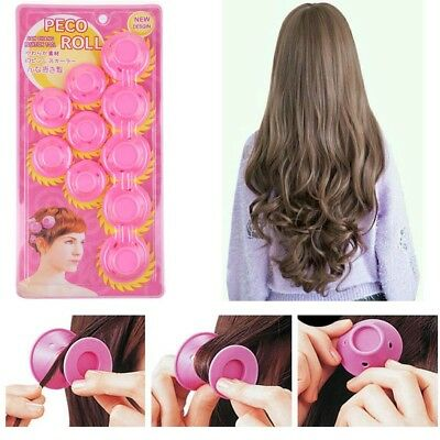 30 pcs Magic Soft Rollers Silicone No Heat Hair Curlers Hair Care DIY Pink 3 Set
