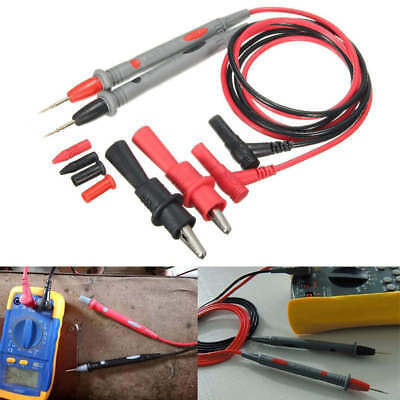 20A Probe Test Lead + Alligator Clips Cable Clamp Multi Meter Digital Multimeter