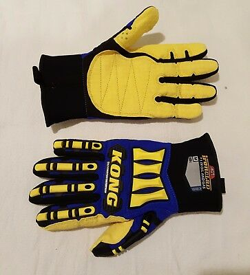 KONG Ironclad Cold Condition Waterproof Gloves, Yellow and Blue, SDXW2-03-M