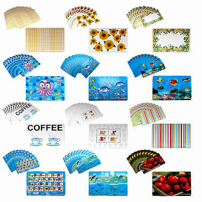 Set of 12 PVC Tableware Placemats Insulation Mats Table Coasters Kitchen Dining