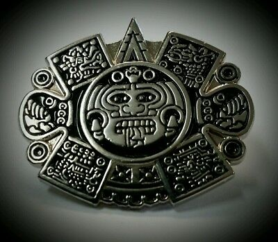 6f134affa5c Chicano Mens Lowrider Hat Fedora Vintage Aztec Sun God Silver Button Badge  Pin